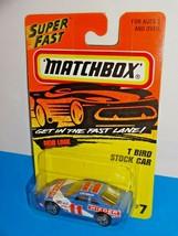 Matchbox Mid 1990s Release #7 T-Bird Stock Car Blue & White WIEDER Racing - $6.00
