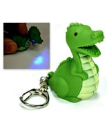 LED DINOSAUR KEYCHAIN with Light and Sound Green Dragon Toy Gift Key Cha... - $6.95