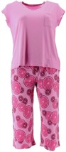 AnyBody Cozy Knit Fruit Slice Printed PJ Light Orchid 1X NEW A353790 - $34.63
