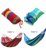Hammock Outdoor Garden Sports Home Travel Camping Swing Canvas Stripe Ha... - $14.55