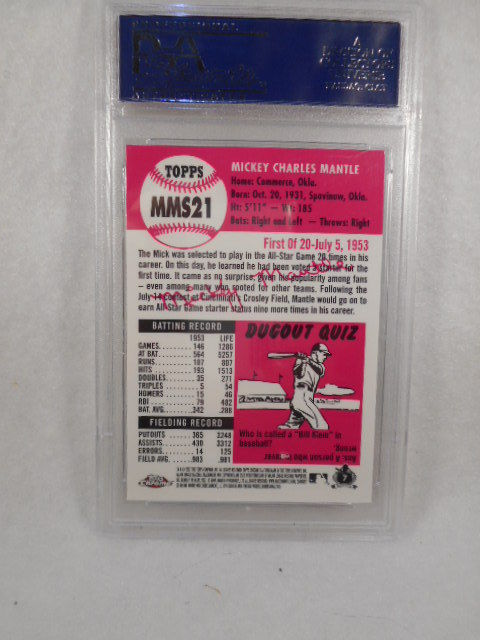 2007 Topps Chrome #MMS21 mickey Mantle Mantle story  PSA Graded Gem MT 10