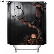 Party Happy Halloween 68 Shower Curtain Waterproof Polyester Fabric For Bathroom - $33.30+