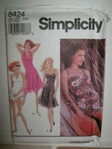 Simplicity 8424 Fit Flare or Swim Dress Pattern Plus Sz 20 - 26 Panties ... - $8.38