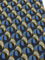 """Ermenegildo Zenga 100% Silk Tie 37"""" x 3.75 """" Blue Pattern Made in Italy - $14.92"""