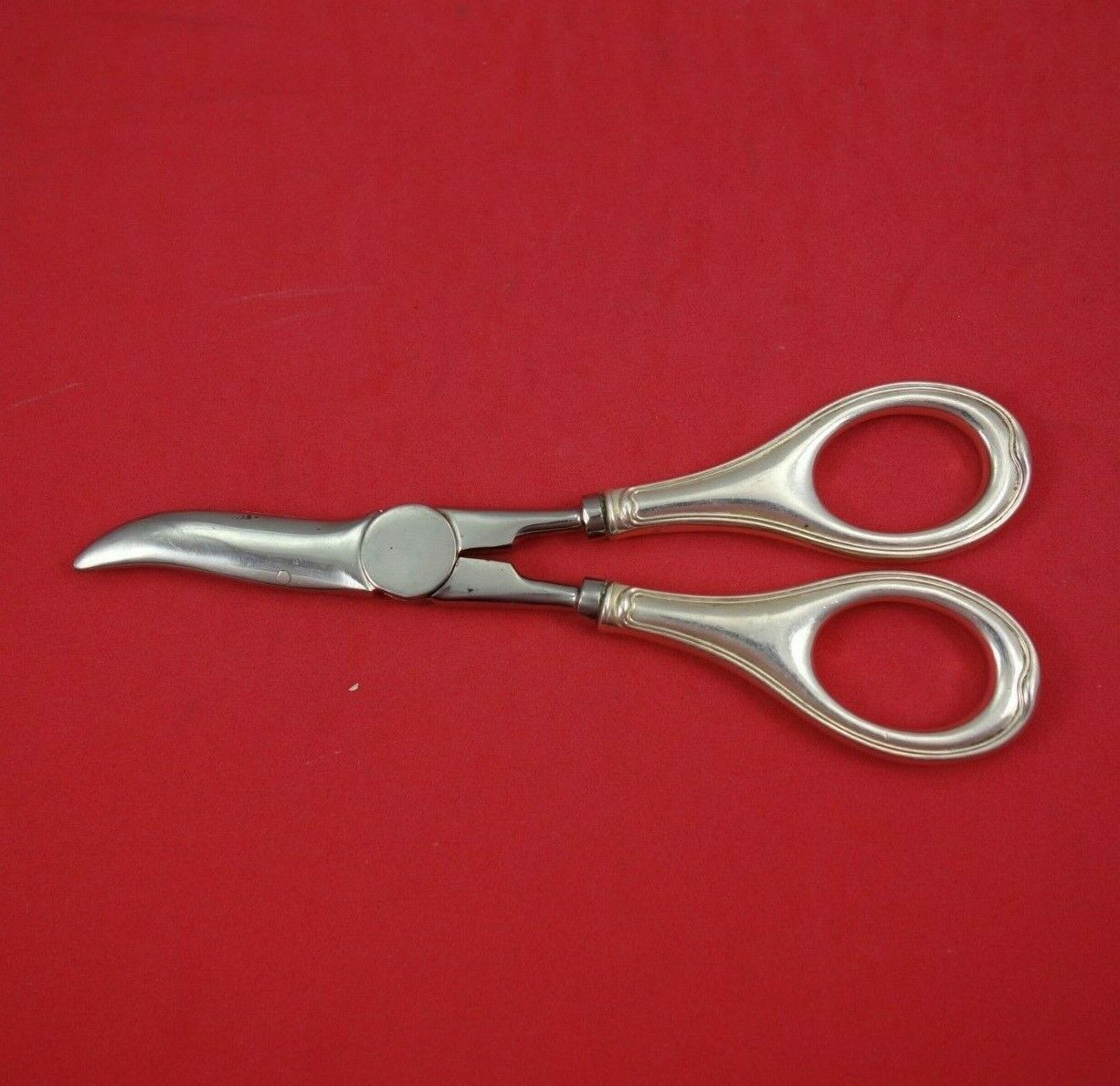 Primary image for Th. Marthinsen Silverplate Grape Shears Hollow Handle 6 5/8""