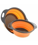 Collapsible Silicone Colander Fruit Vegetable Washing Basket Strainer Dr... - $9.60