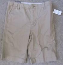 Gap Kids Boys Khaki Shorts Size 14 Regular Adjustable Waist New With Tags - $19.79