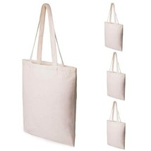 Canvas Tote Bags, Sdootjewelry 4 Pack Heavy Duty Reusable Grocery Bags Canvas Sh
