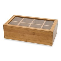 Lipper International 8-Compartment Bamboo Tea B... - $29.99