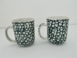 Folk Craft Tienshan Moose Country - 2 Coffee/Tea Mugs - Glazed Ceramic – 8 oz - $17.50