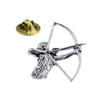 Archery, Bowman, Archer  Lapel Pin Badge  English Pewter Lapel /tie Pin