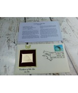 Sea Otter 22kt Golden Replica Stamp 1990 First Day Stamp  - $19.79