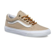 VANS Old Skool (Washed Canvas) Doeskin True White Women's Shoes Size 5.5 - $59.95