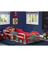 PAW Patrol Toddler Bed with High Side Rails Kids Strong Wood Furniture N... - $128.84
