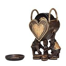AeraVida Elephant Pair Holding a Heart Set of 6 Coaster Kitchen Decor - $75.53