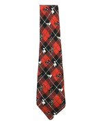 Vintage Nicole Miller Scottie Dogs Tie Silk Red Plaid  Necktie 1997 - $14.80