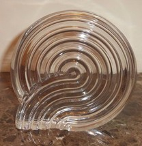 Rosenthal Studio Line Crystal Spiral Paperweight or Bookend Art Sculpture - $25.00