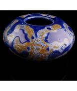 Vintage HEAVY Tilton Pottery -blue vase - signed ceramics - art pottery -glazed  - $125.00