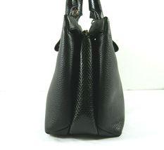 Michael Kors NEW $328 Black Leather Crossbody Messenger Hand Bag Pebbled Gold X image 4