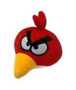 """PLUSH RED ANGRY BIRDS STUFFED ANIMAL SUCTION CUP HANGING TOY 6"""" ROUND - $10.99"""
