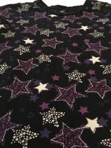 Star Design Short Sleeve Top Black & Purple Girls Sz Large 10-12 Cute! EUC - $8.65