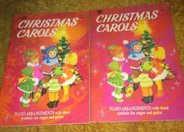 VTG LOT 2 1957 Whitman Christmas Carols Books Illustrated Songbook 50s - $14.20