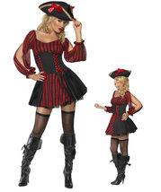 Sexy Black Red Pirates Halloween costume - $55.00