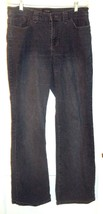 Sonoma Dark Blue Jean Denim Stretch Jeans with Embroidered Pockets Sz 14 - $28.49