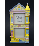 Carr Victorian Row House Photo Picture Frame Easel Back Tabletop Resin Vtg - $25.00