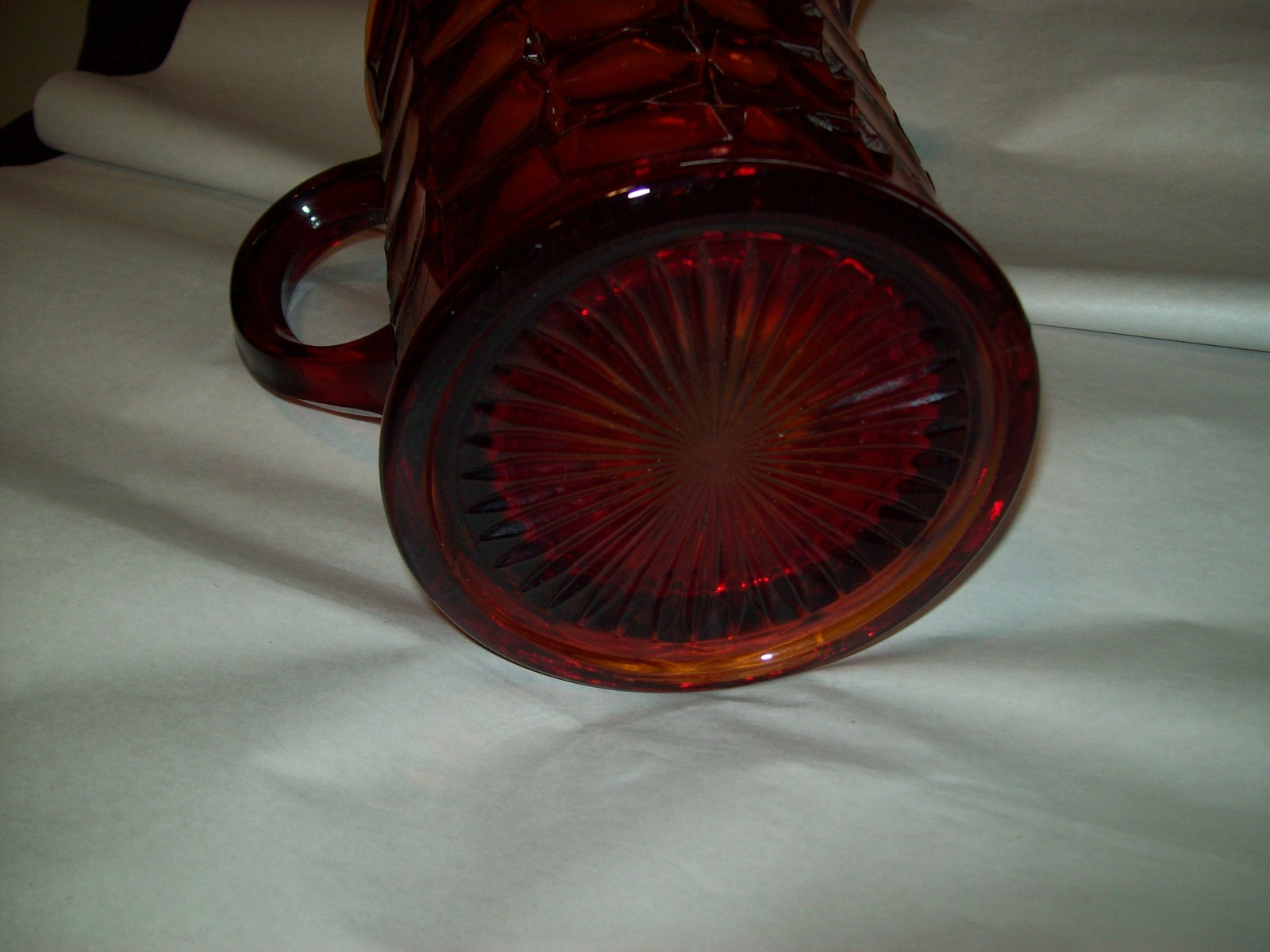 Indiana Glass Tiara Ruby Sunset Amberina Red Constellation Water Pitcher Vintage image 6