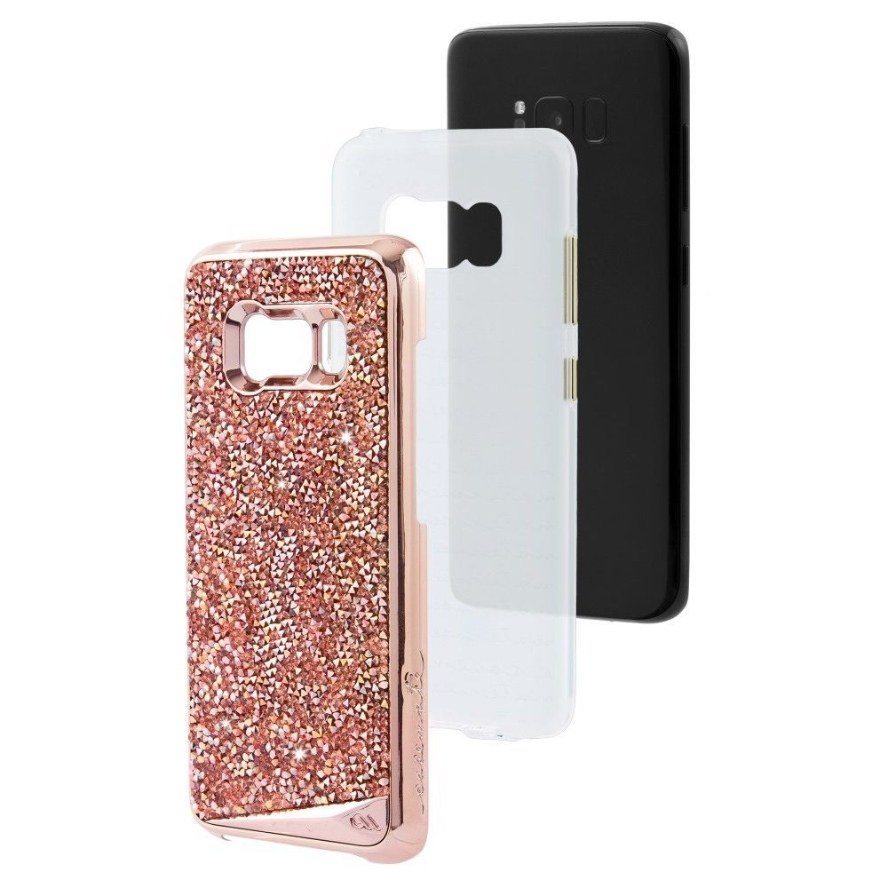 CaseMate Brilliance Shockproof Case for Samsung Galaxy S8 Plus Pink Gold or Gold