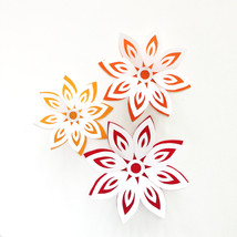 Paper Flowers, Papercut Flowers, Party Decorations, Gift Toppers, Home D... - $12.99