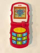 Fisher Price Brilliant Basics Toy Telephone Flip Phone Red 2006 Mouse Ca... - $9.99