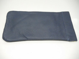 North Star Lt. Blue/Gray Squeeze Open Soft Leather Eyeglasses Case-USA M... - $11.82