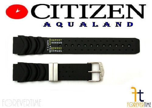 Citizen Aqualand JP1010-00L 20mm Black Rubber Watch Band JP1010-00E JP1014-09E