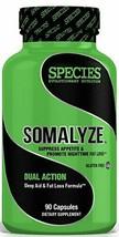 Species Nutrition SOMALYZE Dual-Action Sleep Aid & Fat Loss Formula, 90 ... - $33.99