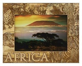Africa Laser Engraved Wood Picture Frame (5 x 7) - £20.74 GBP