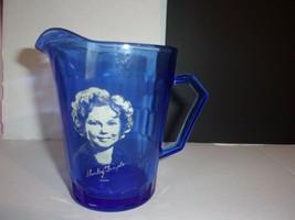Vintage Shirley Temple Signed Cobalt Blue Pitcher 4 1/2 in. - $18.49