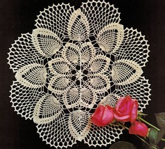 4X Pineapple Spring Daisy Table Center Coasters Bedspread Crochet Doily ... - $7.99