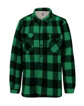 Men's Casual Flannel Button Up Plaid Fleece Warm Sherpa Lined Lightweight Jacket image 15