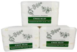3 Bath & Body Works STRESS RELIEF EUCALYPTUS SPEARMINT Body Bar Soap 8.8... - $22.66