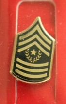 US ARMY E-9 COMMAND SERGEANT MAJOR SOLDIERS NECKTIE TIE TAC LAPEL SWEETH... - $6.92