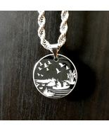 Engraved Duck Hunter Dog Tag Silver Stainless Steel Pendant Hunting Neck... - $29.99