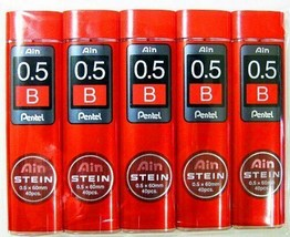 Pentel STEIN Stein sharp pencil core replacement 0.5mm B black[set of 5]C275-B - $12.55