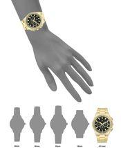 I.N.C. Men's 44.5mm Black & Gold Tone Sub Dial Link Bracelet Wrist Watch NIB image 5