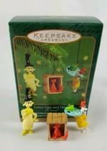 Hallmark Keepsake Ornament Miniature Set of 3 Green Eggs and Ham Dr. Seu... - $8.86
