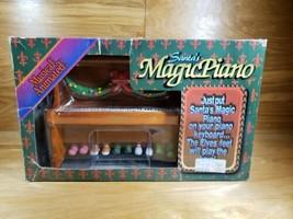 Vtg. 1994 Santa's Magic Piano Animated Musical Elves Feet RARE Christmas... - $49.49