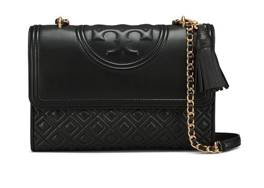 Tory Burch Fleming Large Convertible Shoulder Bag Black 31381 with Free Gift