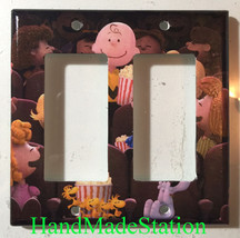 Peanuts Snoopy friends movie theater Light Switch Power Outlet wall Cover Plate image 5