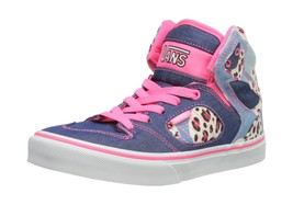 Vans Allred, Unisex-Childs' High-Top Trainers Blue/Pink 12.5 UK - $63.61